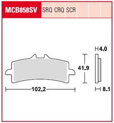 TRW Plaquettes de frein SV/SH MCB858SV