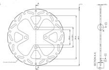 TRW MST disque fixe avec RAC design MST269RAC