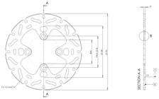 TRW MST disque fixe avec RAC design MST270RAC