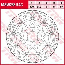 TRW MSW disque de frein flottant RAC design MSW288RAC