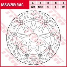 TRW MSW disque de frein flottant RAC design MSW289RAC