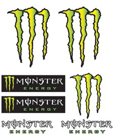 BOOSTER Set d'autocollants Monster Monster