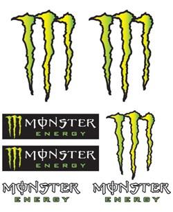 BOOSTER : Set d'autocollants Monster - Monster