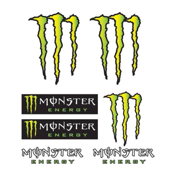 BOOSTER Set d'autocollants Monster Monster