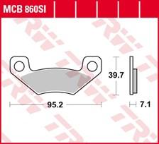 TRW Plaquettes de frein métal fritté SI MCB860SI