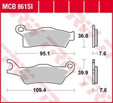 TRW Plaquettes de frein métal fritté SI MCB861SI