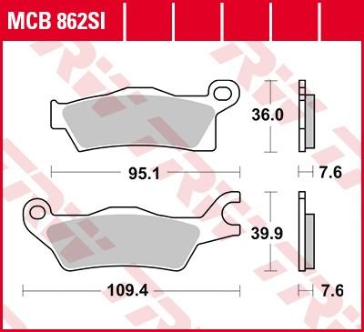 TRW Plaquettes de frein métal fritté SI MCB862SI