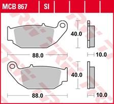 TRW Plaquettes de frein métal fritté SI MCB867SI