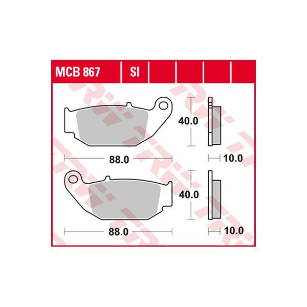 TRW SI Remblokken sinter metaal MCB867SI