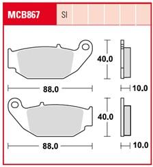 TRW Plaquettes de frein organique MCB867