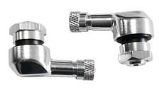 BOOSTER Jeux de valves alu coudée 11.3mm Argent