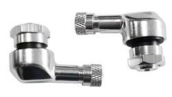 BOOSTER : Jeux de valves alu coudée 11.3mm - Argent