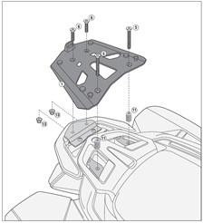 GIVI Topkofferhouder aluminium - SRA SRA5113