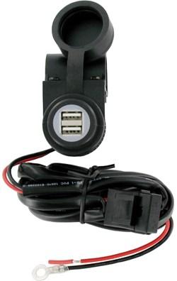 RAD : USB contactdoos stuur 12V - output 5V / 3,3A - 1m70