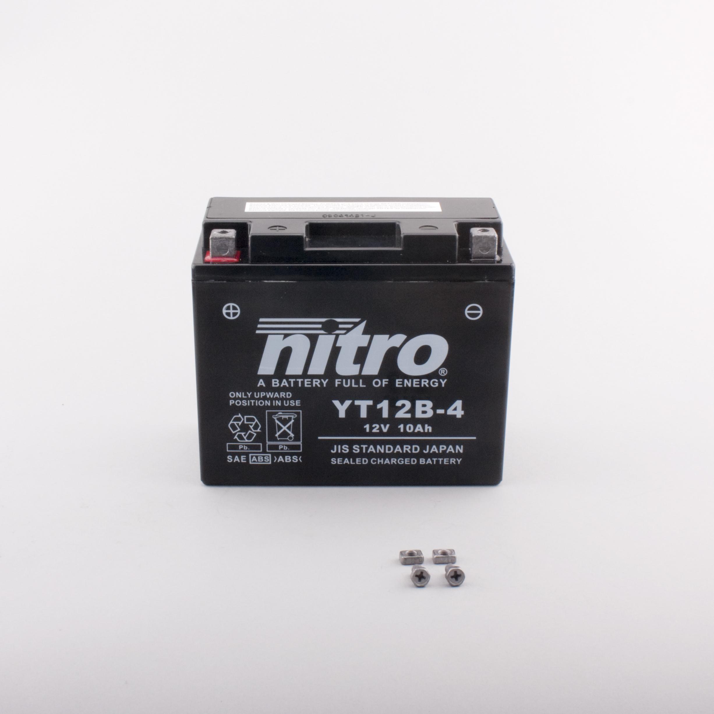 nitro batterie ferm e sans entretien yt12b 4 rad eu. Black Bedroom Furniture Sets. Home Design Ideas