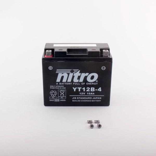 NITRO Gesloten batterij onderhoudsvrij YT12B-4