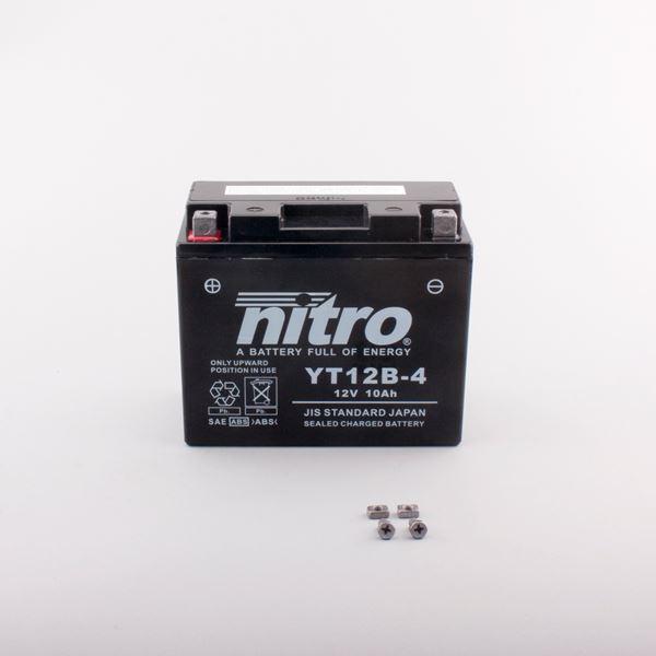 NITRO Batterie fermée sans entretien YT12B-4