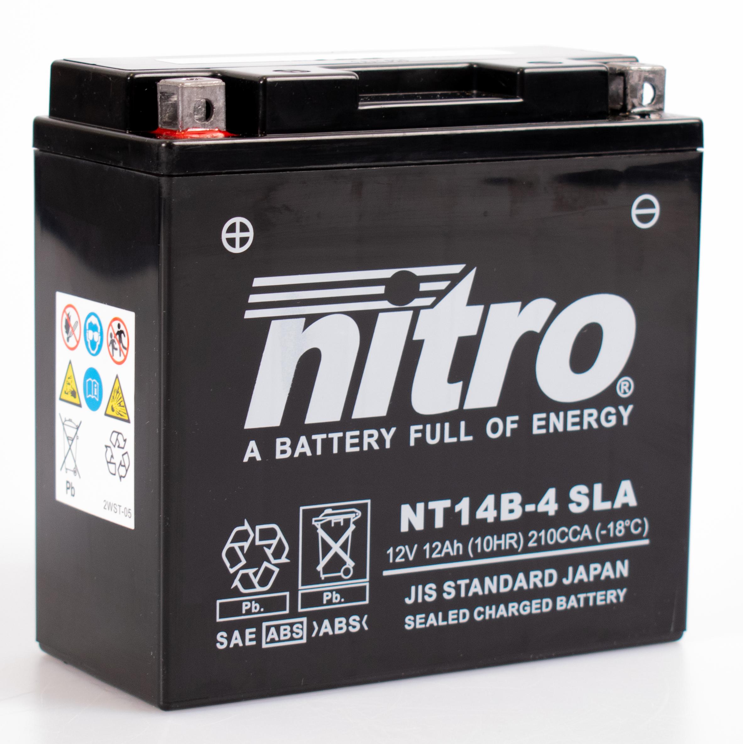 nitro batterie ferm e sans entretien yt14b 4 rad eu. Black Bedroom Furniture Sets. Home Design Ideas