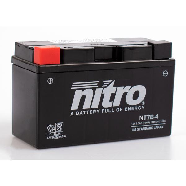 NITRO Gesloten batterij onderhoudsvrij YT7B-4