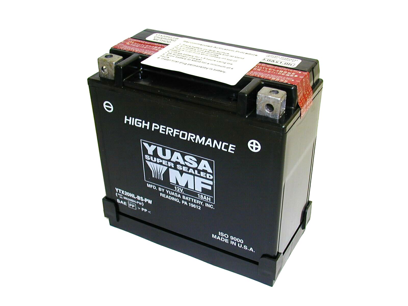 yuasa batterie sans entretien haute performance ytx20hl bs pw rad eu. Black Bedroom Furniture Sets. Home Design Ideas