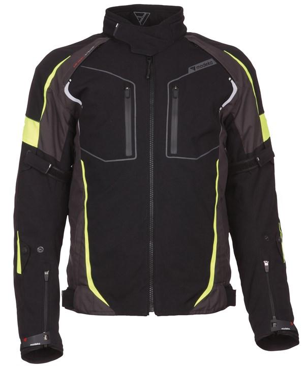MODEKA Fuego jacket Zwart / fluo geel Heren