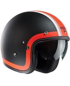 HJC FG-70S Heritage Noir Mat-Orange