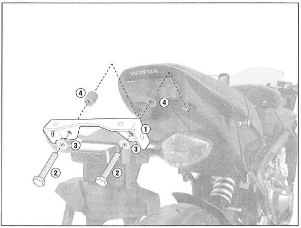 GIVI 'Zonder topkofferhouder' kit PLR/PLX(R) 1137KIT