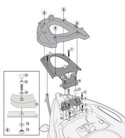 GIVI Topkofferhouder monolock en monokey- SR
