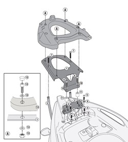GIVI Support topcase monolock et monokey - SR