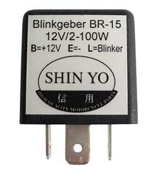 SHIN YO Relais pour clignotants électronique universel 208-020