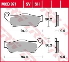 TRW Plaquettes de frein organique MCB871