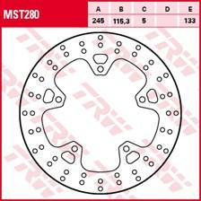 TRW Disque de frein MST280