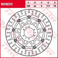 TRW MSW Zwevende remschijf MSW210