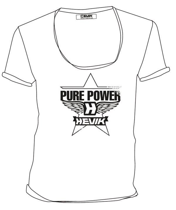 HEVIK T-Shirt Star Blanc