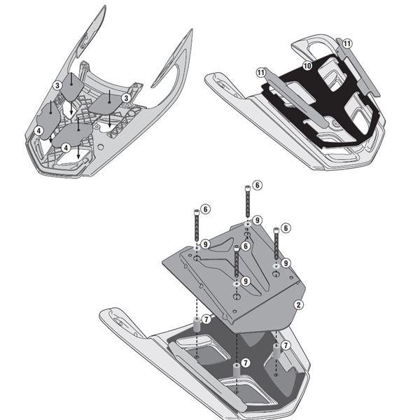 GIVI Topkofferhouder aluminium - SRA SRA5116
