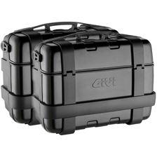 GIVI TRK33 Trekker set valises cache noir aluminium - 2x 33 litres