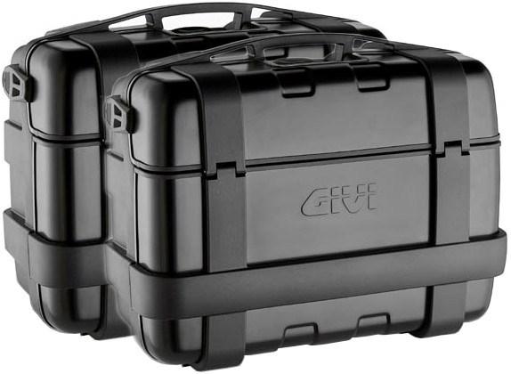 GIVI TRK33 Trekker set zijkoffers zwarte aluminium cover - 2x 33 liter