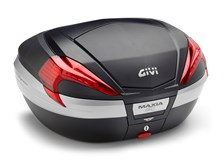 GIVI V56 Maxia 4 top case reflecteurs rouges, finition carbon