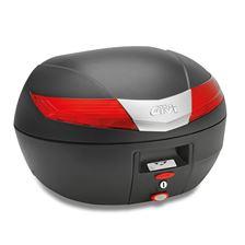 GIVI V40 top case reflecteurs rouges, cache noir