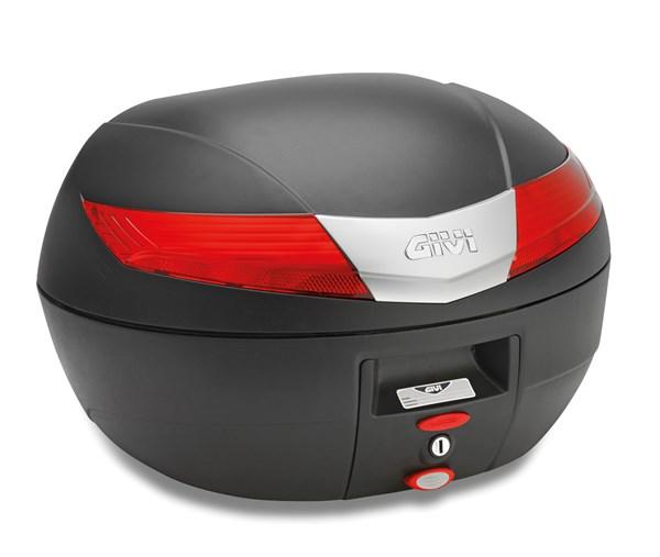 GIVI V40 topkoffer rode reflectoren, zwarte cover