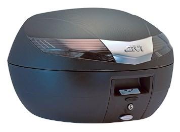 GIVI V40 top case reflecteurs noir, cache noir