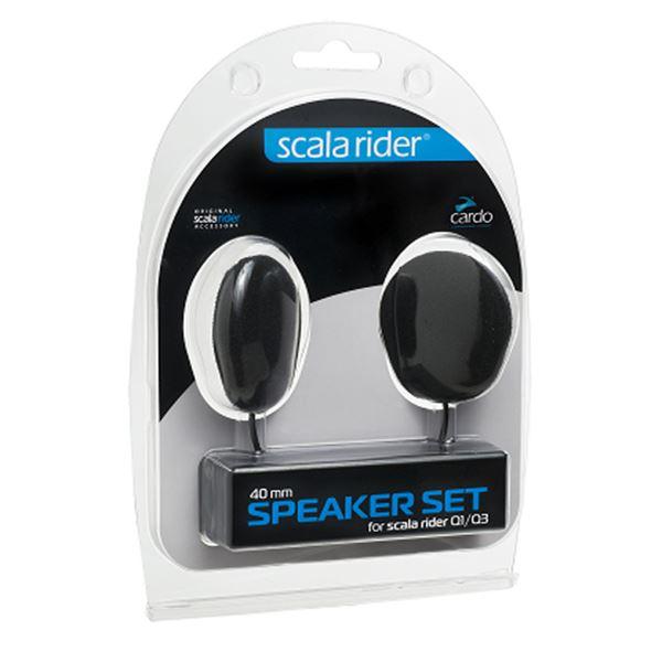 CARDO Écouteurs Qz/Q1/Q3/G9x/Packtalk/Freecom 40 mm