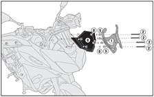 GIVI Kit de montage pour bulle D2122KIT