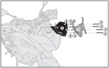 GIVI Bevestigingskit windscherm D2122KIT