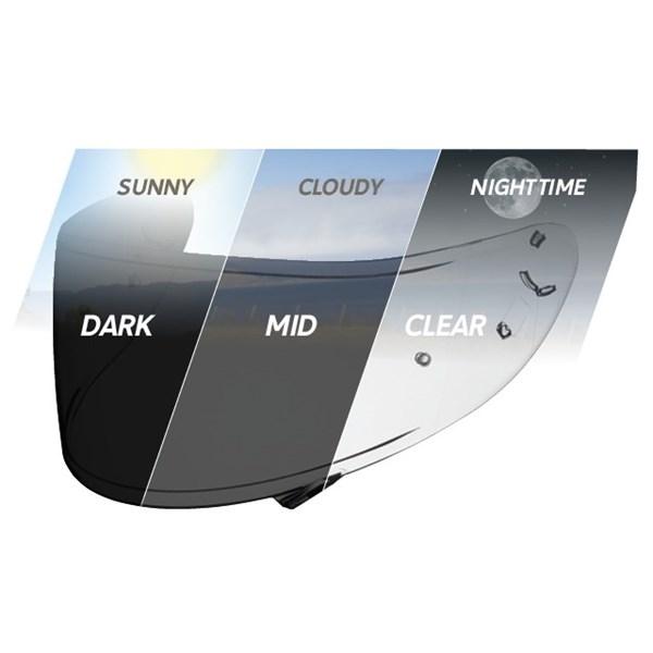 SHOEI Visière CWR-1 Photochromatique (préparée Pinlock)