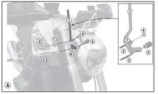 GIVI Kit de montage pour bulle A5117A