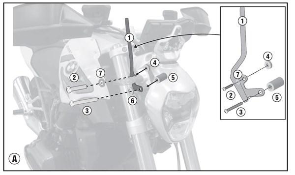 GIVI Bevestigingskit windscherm A5117A