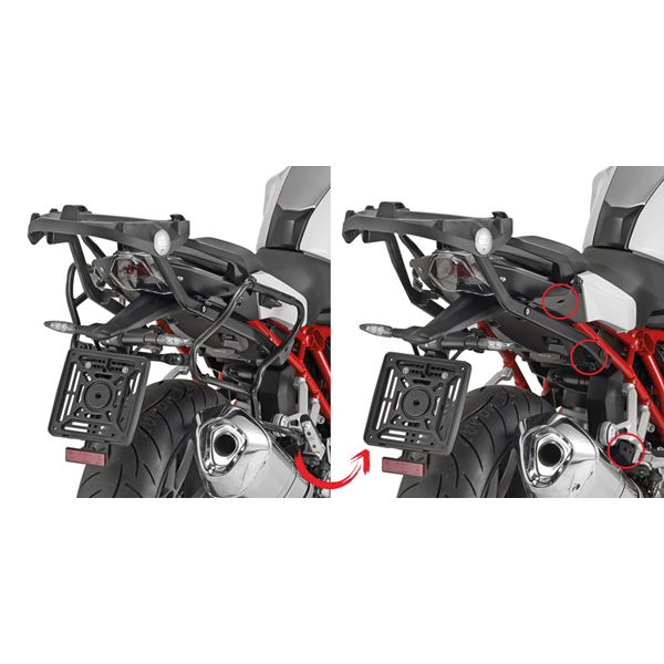 GIVI Zijkofferhouders V35  en V37 koffers - PLXR PLXR5117