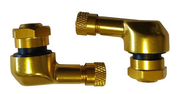 BOOSTER Haakse ventielen 8.3mm Goudkleurig