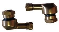 BOOSTER Jeux de valves alu coudée 8.3mm Couleur bronze